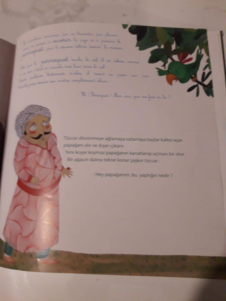 Livre bilingue turc-français akilli papagan le perroquet malin